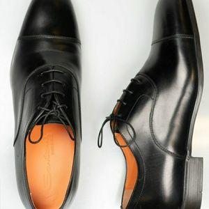Santoni Black Oxford  Retails  $610